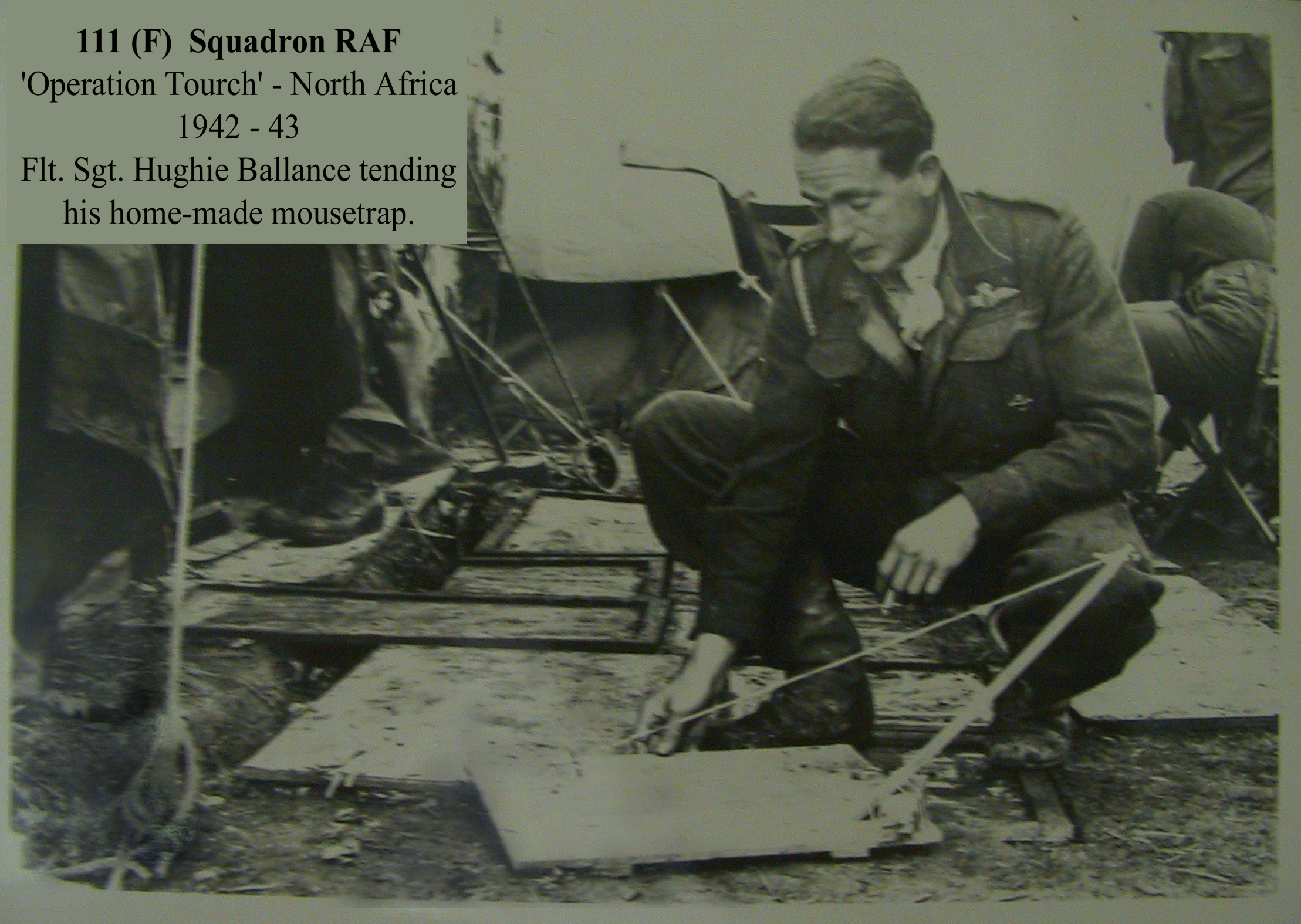 Hugh Ballance and his lethal 'Rat-Trap'.