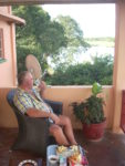 Watt on his verandah overlooking the Kafue