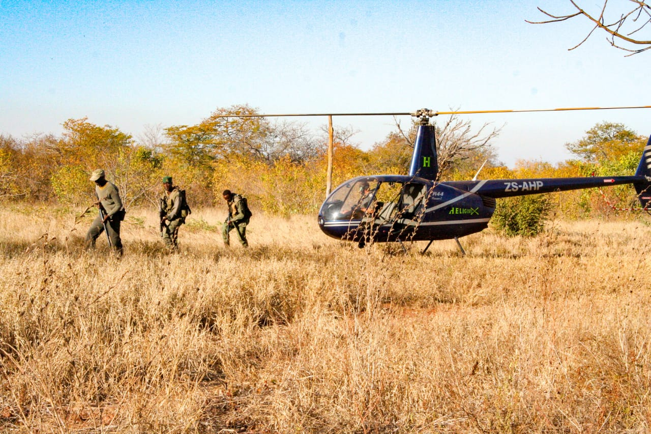 Dyck's Men deployed on an anti-poaching operation.